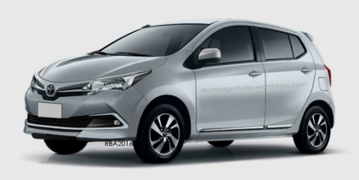 rendering toyota agya facelift - by rbadesign