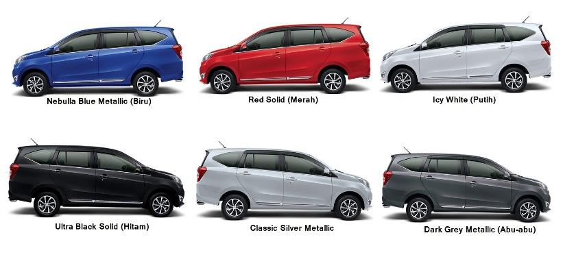 Pilihan Warna Daihatsu Sigra Generasi Pertama 2016 ...