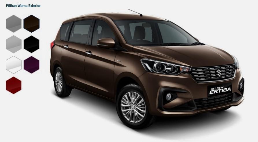 Warna Suzuki All New Ertiga 2018 Indonesia - Generasi kedua