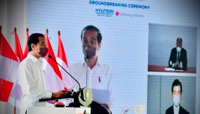 Jokowi resmikan pembangunan pabrik baterai EV hyundai
